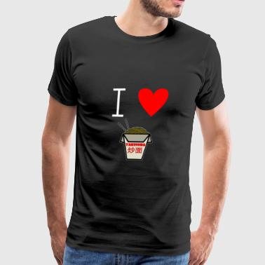 Shrimp I Love Noodles - I love pasta - Men's Premium T-Shirt