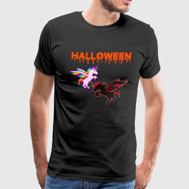 Its Not A Unicorn Halloween Unicorn fight - Men's Premium T-Shirt