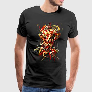 Hardcore Flames Demon - Men's Premium T-Shirt