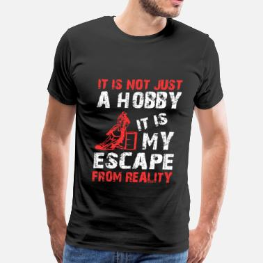 Western Riding Horse riding - It is my escape from reality Tshirt - Men's Premium T-Shirt