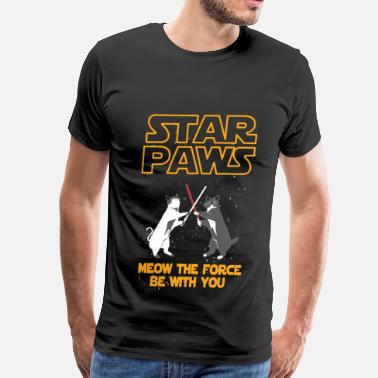 Rescue Cat Mom Star Wars cat version - Meow the force be with you - Men's Premium T-Shirt