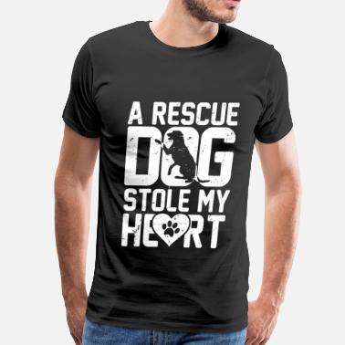 Police Dog Rescue dog - It stole my heart awesome t-shirt - Men's Premium T-Shirt