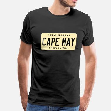 Cape May Cape May New Jersey License Plate - Men's Premium T-Shirt