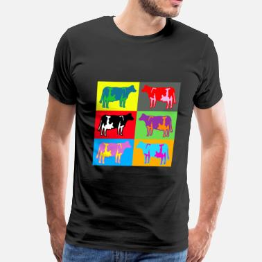 Colored Cow cow colored cows multicolor - Men's Premium T-Shirt