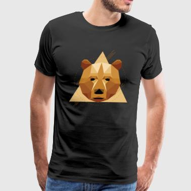 Geometric Bear - Men's Premium T-Shirt