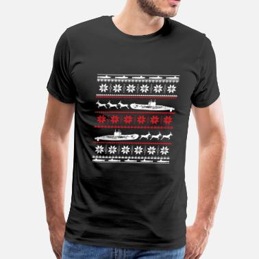 For Submariner Wife Submarine-Submarine Christmas awesome sweater - Men's Premium T-Shirt