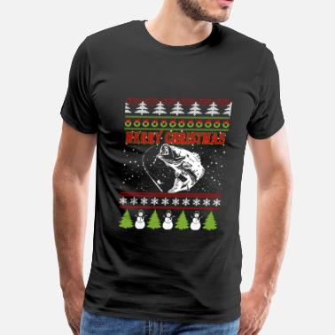 Fishermen Fisher Fisher-Christmas awesome sweater for fisher - Men's Premium T-Shirt