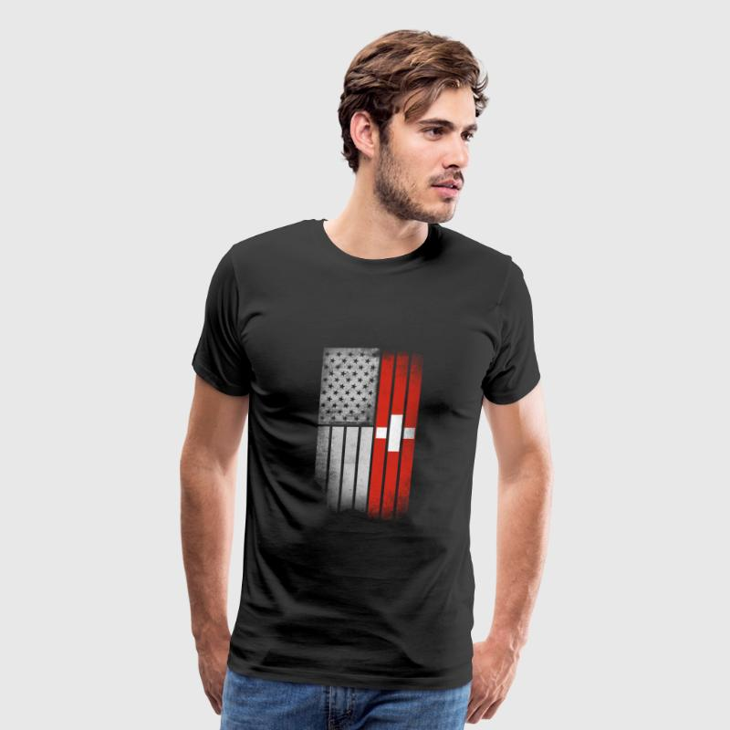 Swiss American Flag - Men's Premium T-Shirt
