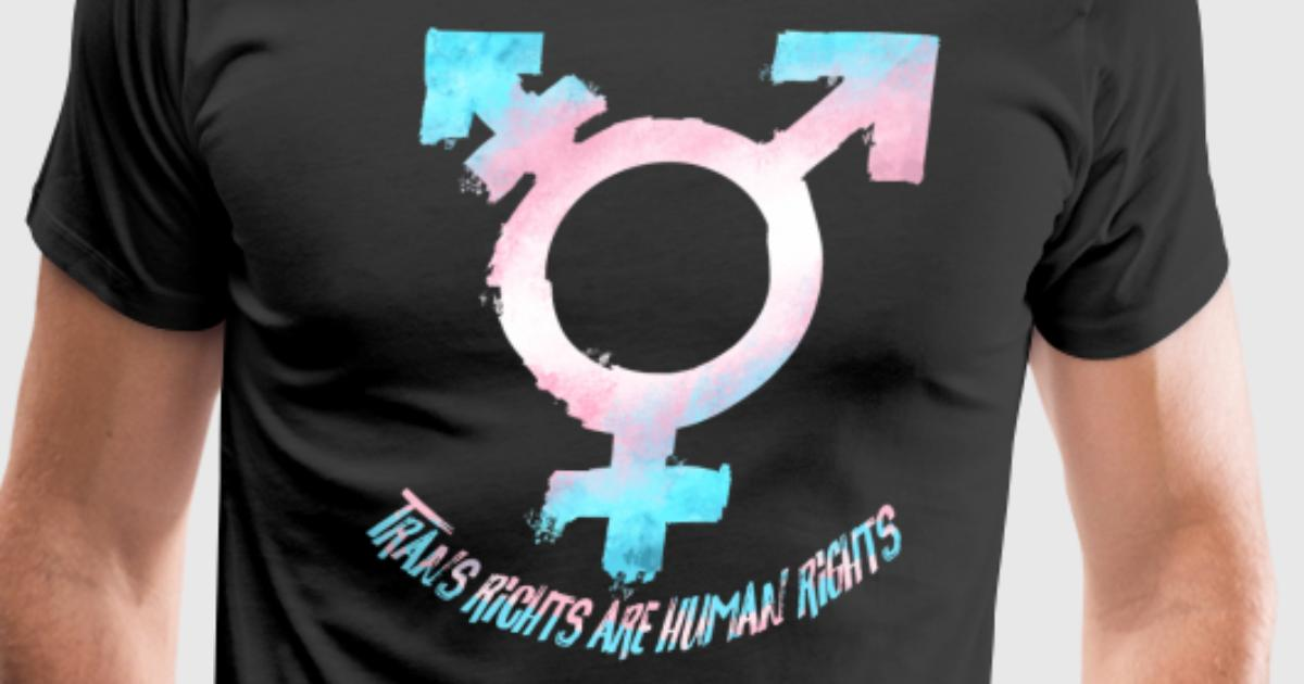 Trans Rights Are Human Rights Symbol Pride Flag By Spreadshirt Hot