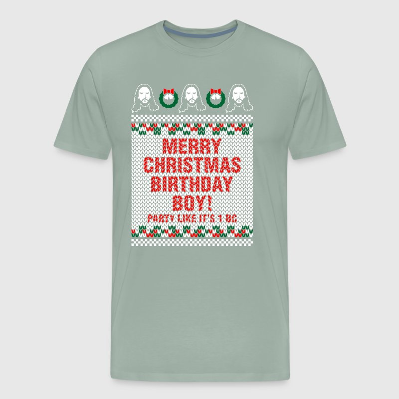 Merry Christmas Birthday Boy Jesus Ugly Sweater by xmasdesigns ...