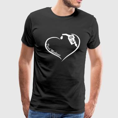 Diesel Mechanic Heart Tee - Men's Premium T-Shirt