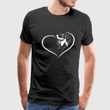 Irish Wolfhound Heart Tee - Men's Premium T-Shirt