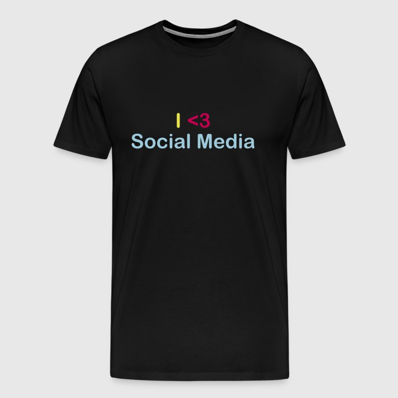 I Heart Social Media - Men's Premium T-Shirt