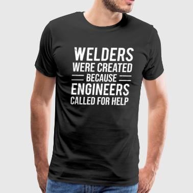 Funny Welding Funny Welders Engineers Joke Welding T-shirt - Men's Premium T-Shirt