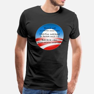 Obama ran so our children can fly - Men's Premium T-Shirt
