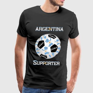 Argentina Football Supporter Argentinien - Men's Premium T-Shirt