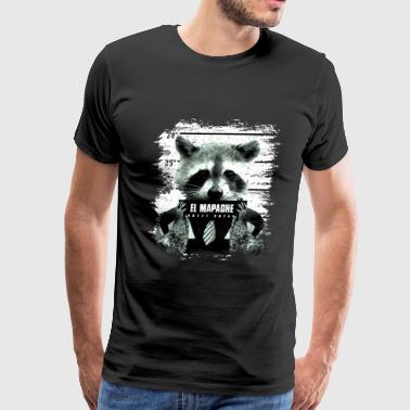 Animal Print Gift El Mapache - Men's Premium T-Shirt