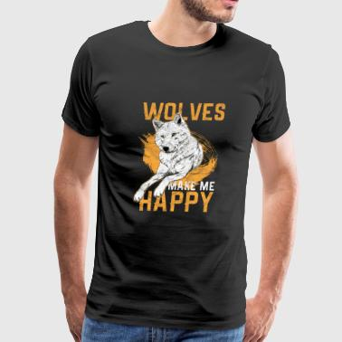 Wolf Hunt Animal Gift - Men's Premium T-Shirt