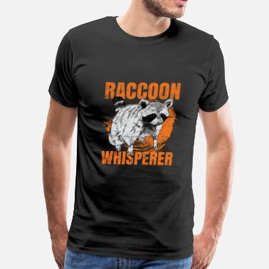 Raccoon raccoon whisperer fox animal gift - Men's Premium T-Shirt