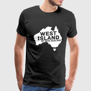 Australia Day West Island (in White) Men's Premium T-Shirt - Men's Premium T-Shirt