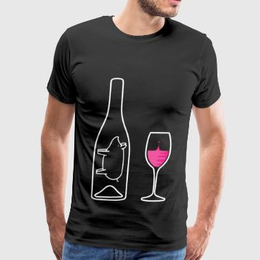 Wine Uncorked Rose - Men's Premium T-Shirt
