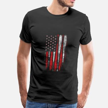 American Flag Baseball Baseball-Baseball flag t-shirt for baseball lover - Men's Premium T-Shirt