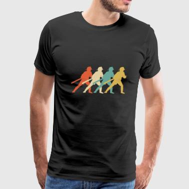 Retro Firefighter Pop Art - Men's Premium T-Shirt