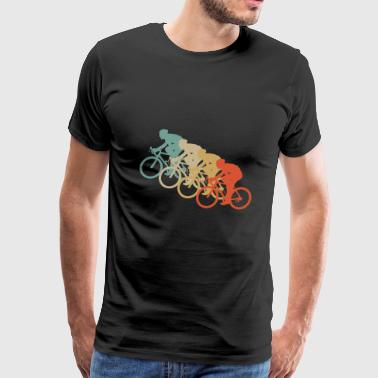 Retro Vintage Style Bicycle Bike Cyclist Cycle - Men's Premium T-Shirt