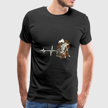 gift heartbeat native american - Men's Premium T-Shirt