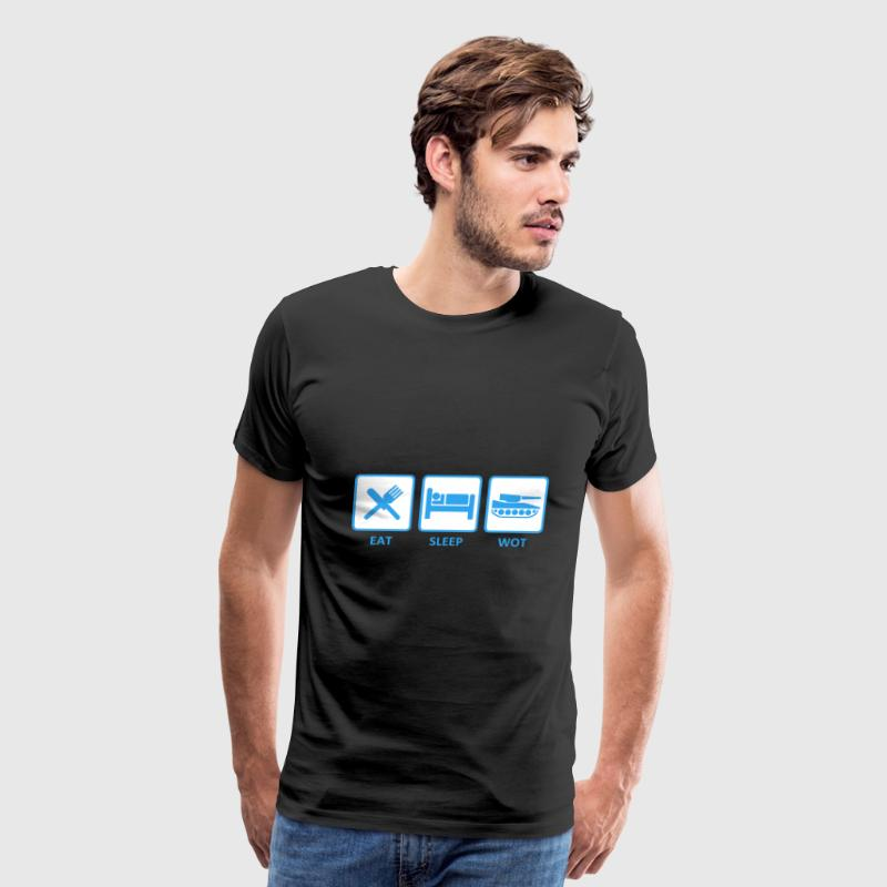 Eat Sleep Wot - Men's Premium T-Shirt