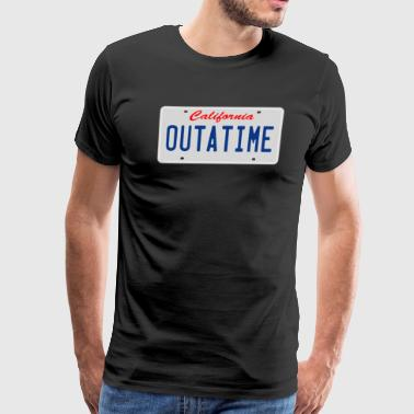 Outatime Outatime License Plate - Back To The Future - Men's Premium T-Shirt