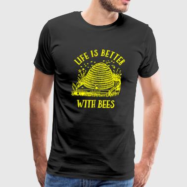 Beehive Life Is Better With Bees - Men's Premium T-Shirt