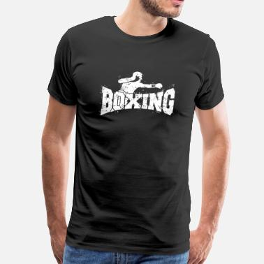 Freedom Of Expression Boxing with boxer - Deluxe Distressed Design - Men's Premium T-Shirt