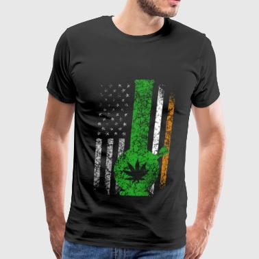 Irish flag with marijuana T - shirt - Men's Premium T-Shirt
