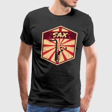 Tenor Saxophone Propaganda | Music Instrument Jazz Gift - Men's Premium T-Shirt