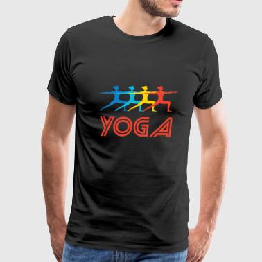 Retro Yoga Pop Art - Men's Premium T-Shirt