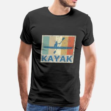 Canoeing Kayaking Retro Vintage Style Kayak Canoe Canoeing Kayaking - Men's Premium T-Shirt