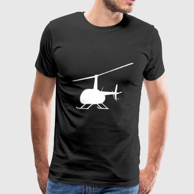Helicopter Heli Chopper Aircraft Gift Idea - Men's Premium T-Shirt