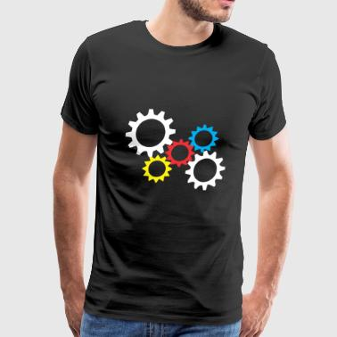 Cogwheel Five - Men's Premium T-Shirt