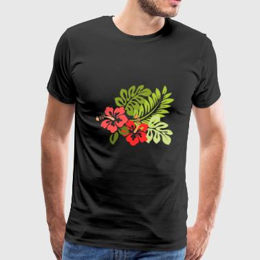 Hawaiian Flowers - Men's Premium T-Shirt
