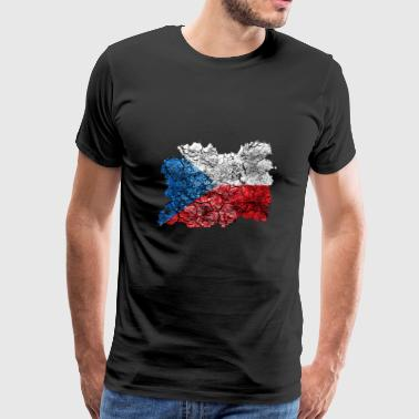 Czechia Vintage Flag - Men's Premium T-Shirt