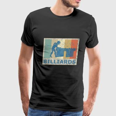 Retro Vintage Style Pool Billiard Player Snooker - Men's Premium T-Shirt