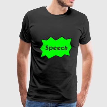 Speech Bubble - Men's Premium T-Shirt