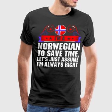 Im A Norwegian To Save Time - Men's Premium T-Shirt