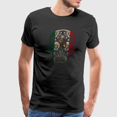 Cool Mexican Shirt Mexican Flag Shirt for Mexican Pride Skull - Men's Premium T-Shirt