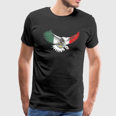 Flying Eagle Mexican Design Mexican Flag Design For Mexican Pride OUtline - Men's Premium T-Shirt