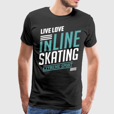 Inline Skating Shirt - Men's Premium T-Shirt