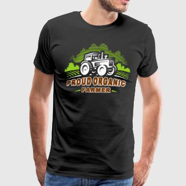 Proud Organic Farmer Shirt - Men's Premium T-Shirt