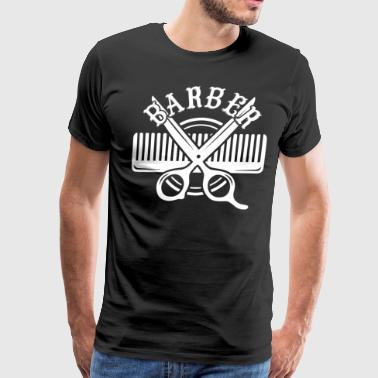Female Barber The Barber Shirt - Men's Premium T-Shirt