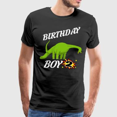 2 Year Old Birthday 2 Years Old Birthday ShirtBrontasaurus GifDesign - Men's Premium T-Shirt